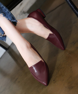 브레드 스틸레토 플랫 단화(black/navy/white/wine/pink/beige/gray/2.2cm)
